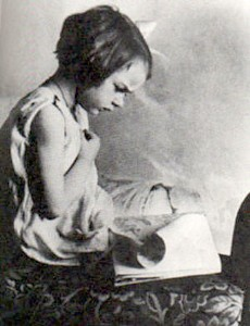 Flannery O'Connor, an early reader. Credit: Ina Dillard Russell Library, Georgia College and State University