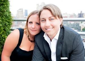 Kristen Ott Palladino and Maria Palladino, who publish Equally Wed magazine in Atlanta.