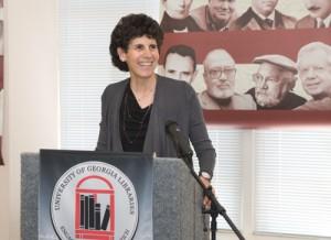 Melissa Fay Greene, at induction to Georgia Writers Hall of Fame. Credit: Hargrett Rare Book & Manuscript Library, University of Georgia