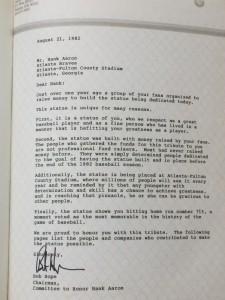 Bob Hope letter