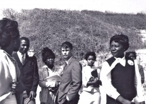 Greg Wittkamper with some of the students who desegregated Americus High School in 1964.