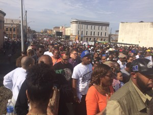 People as far as the eye can see come to Selma on Sunday (Photo by Maria Saporta)