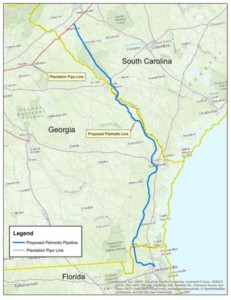 Palmetto Project map, detail