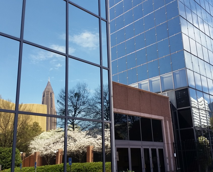 Reflections in Georgia Power Corporate Headquarters