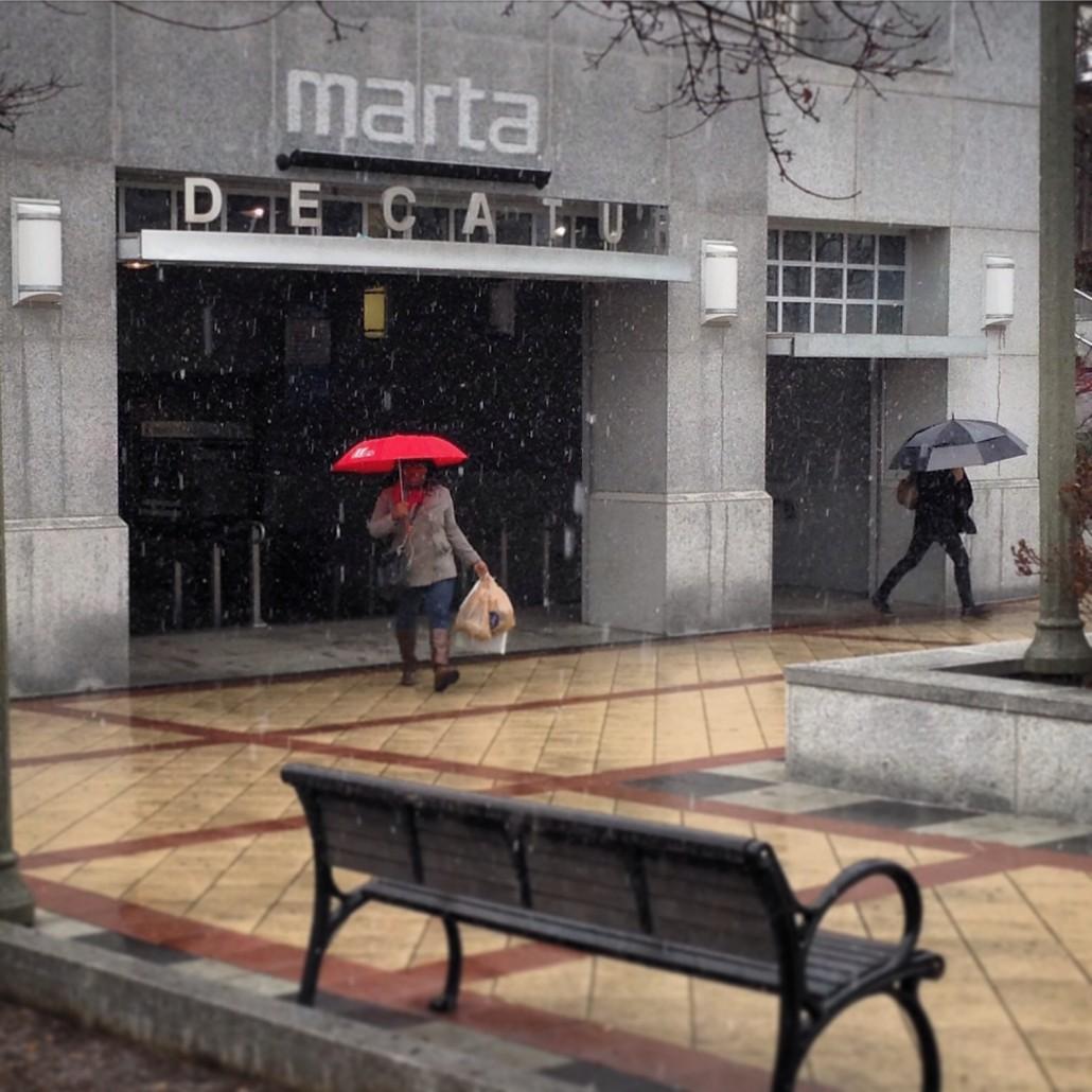 Snow at MARTA