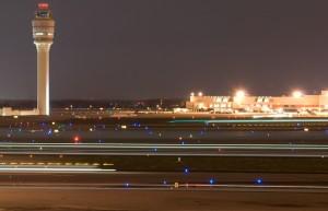 Atlanta airport, at night