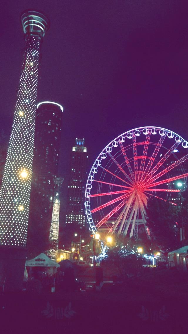 The SkyView Atlanta ferris wheel by Aerolyn Shaw