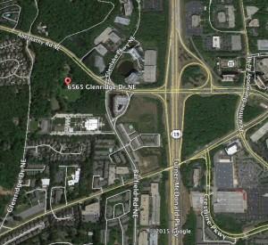 Glenridge Hall locator map