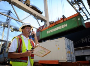 Dock workers in Savannah handled more than 333,000 containers in March. Credit: File/GPA