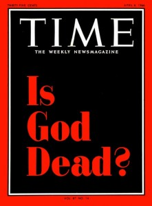 """The April 8, 1966 Time magazine cover. The story was about the """"radical theology"""" of Emory professor Thomas Altizer and others."""