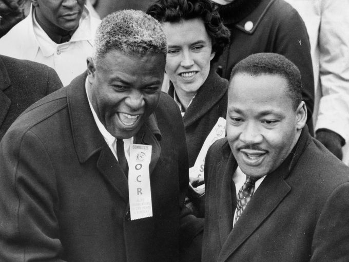 Jackie Robinson and Martin Luther King Jr.