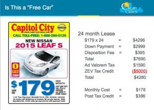 nissan leaf free car