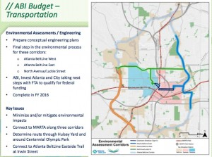 The proposed budget of Atlanta BeltLine, Inc. provides money for engineering studies to solve lingering connectivity issues that surround the BeltLine. Credit: Atlanta BeltLine, Inc. via investatlanta.com