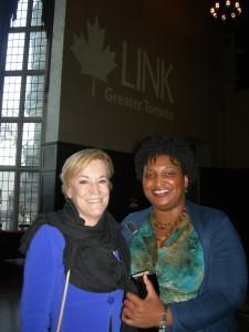 Metro Atlanta Chamber President Hala Moddelmog and Stacey Abrams on Toronto LINK trip