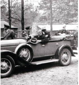 FDR at the Pine Mountain CCC camp. Credit: Georgia Archives