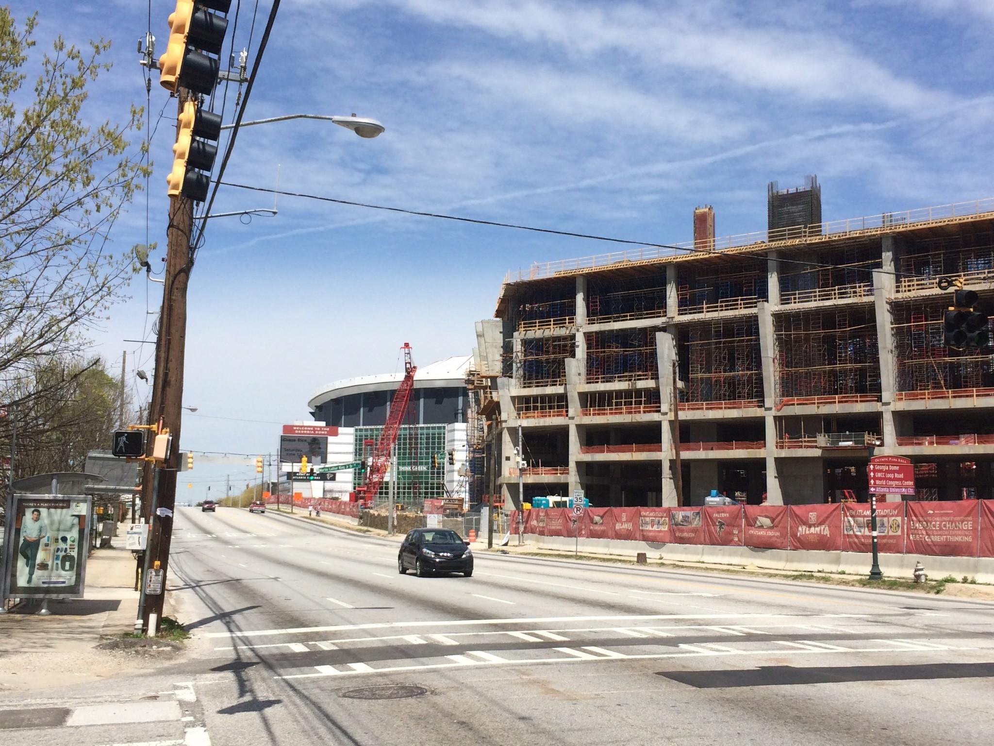 Falcons stadium April 5, 2015