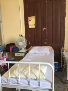A pregnant woman would await her time to deliver in a bed like this in a maternity clinic in Cienfuegos, Cuba. Credit: Lorrie King