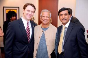 Jason Carter, Muhammad Yunus and Mohammad Bhuiyan during happier times (Special: City of Atlanta)
