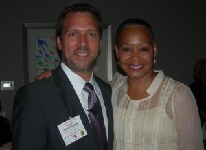 Doug Shipman and Lisa Borders at an event last year