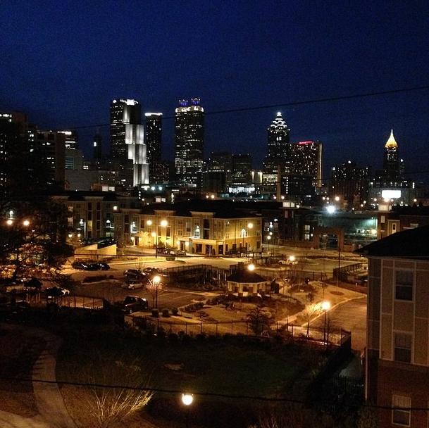 Atlanta Night Skline by Lina Skandalakis