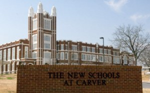 Carver School of the Arts is part of a high school complex that includes early college, technology,  and health science and research.