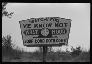 Roadside sign near Greensboro, Georgia, in 1941. Credit: Photo by Jack Delano, Library of Congress