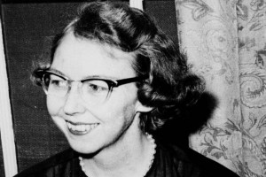 Flannery O'Connor in 1962. Credit: AP