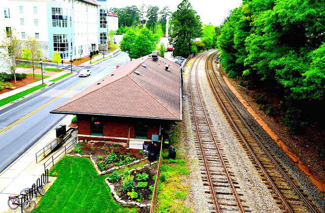 Train station at Emory by Lisa Panero