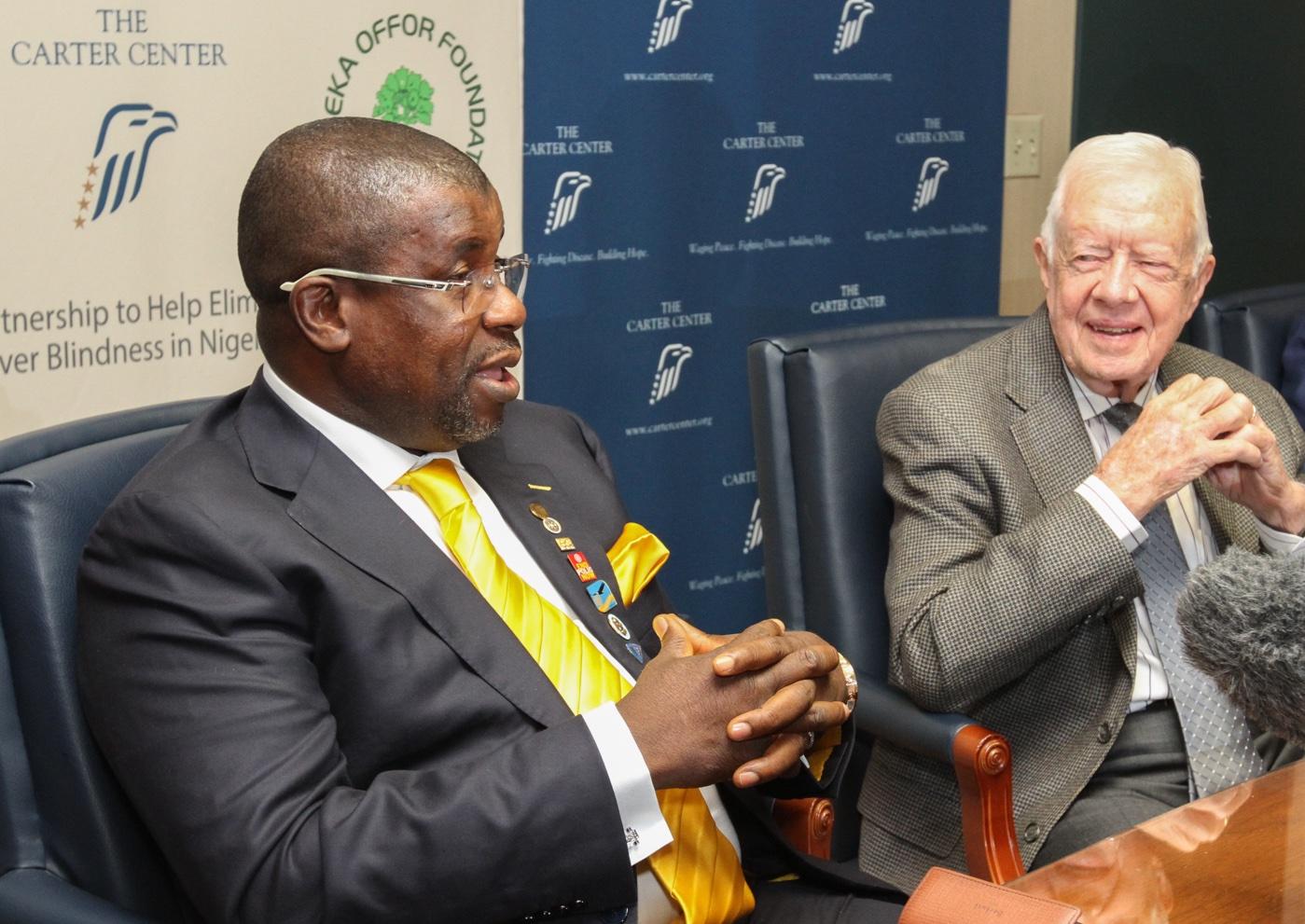 Sir Emeka Offer and President Jimmy Carter