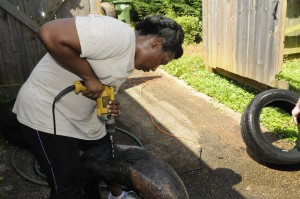East Atlanta, drill drain holes