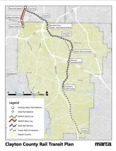 MARTA Clayton map