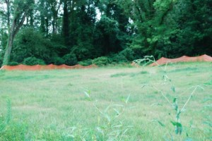 The site of a future park adjacent to PATH400 has been cleared and is ready for development. Credit: Livable Buckhead