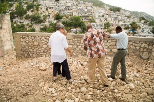 Joe Beasley visited areas of Haiti where news reports say the Red Cross has failed to manage resources. Credi: Garry Calixte/American Red Cross