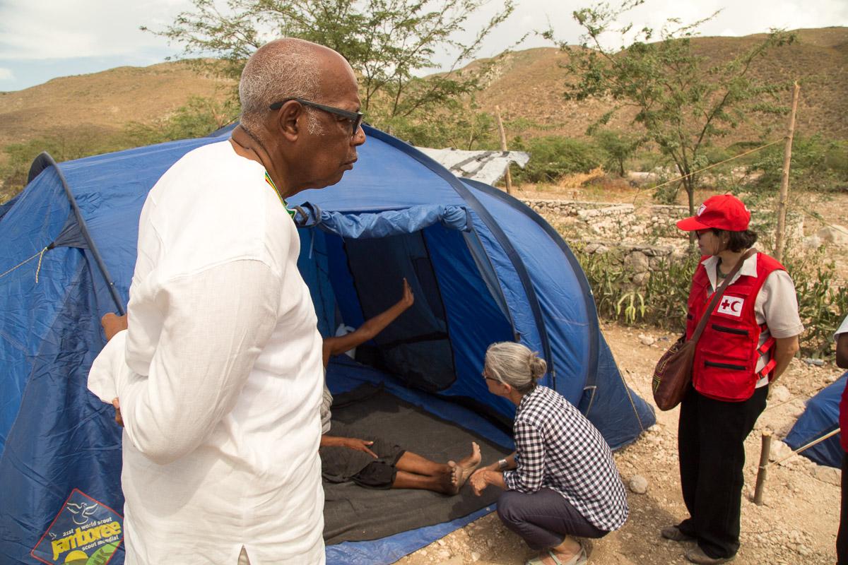 Haiti, tent cities