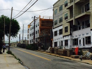 Krog Street, apartment construction, June 2015