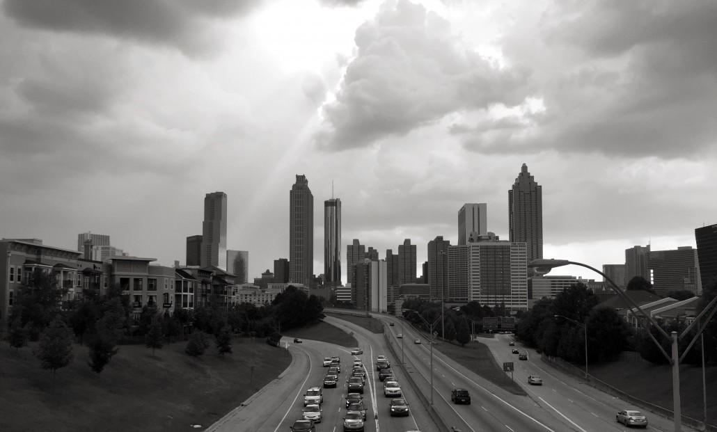 The downtown Atlanta Skyline after a storm by Trish Albert