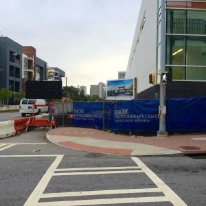 Emory proton center closed sidewalk