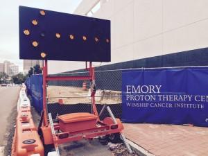 closed sidewalk Emory