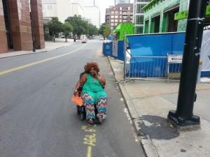 closed sidewalk wheelchair