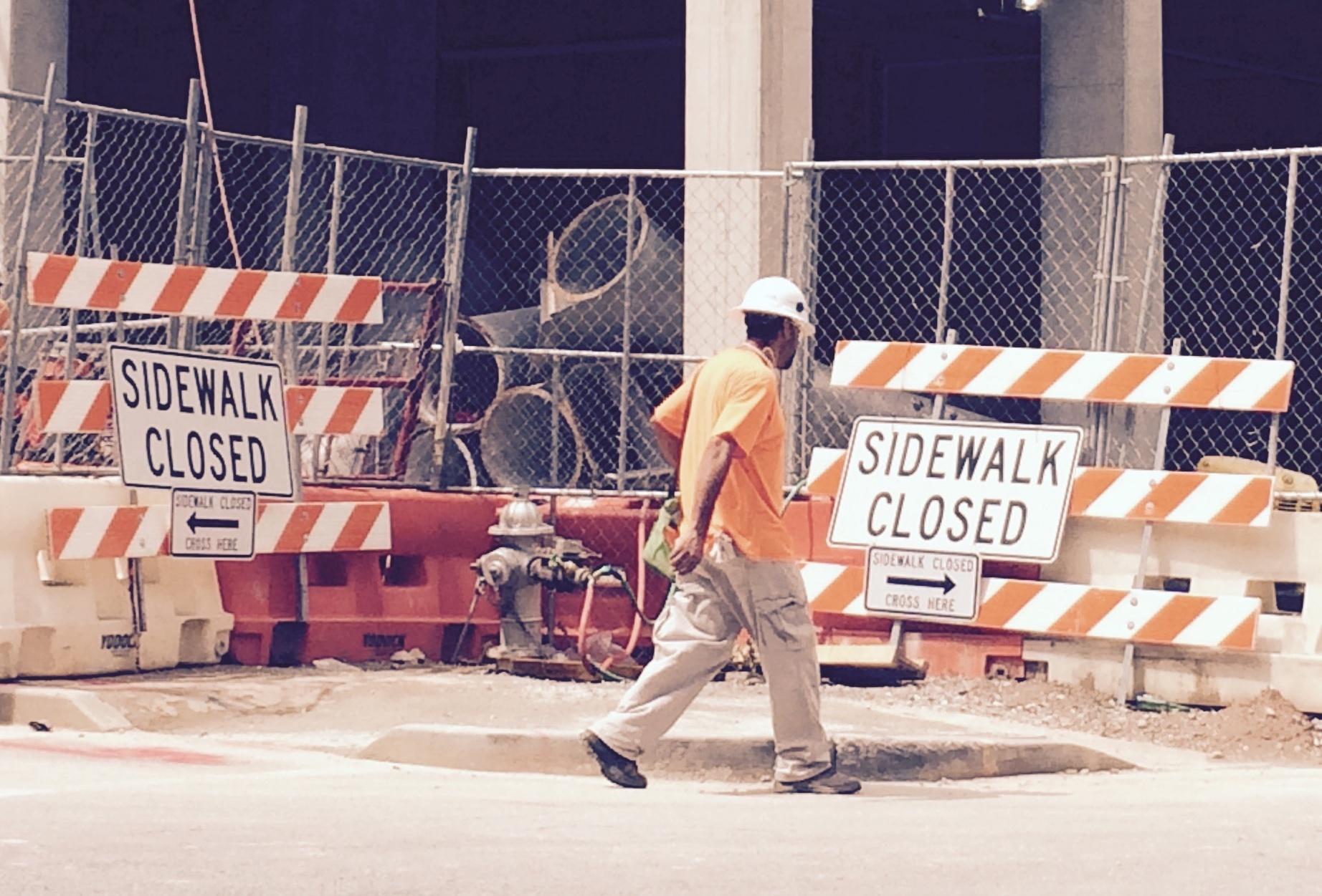closed sidewalks