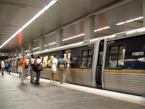 Passengers boarding a MARTA train in Atlanta ─ something Clayton County residents hope is in their future.