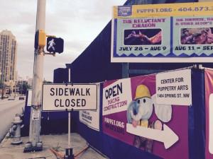 closed sidewalk