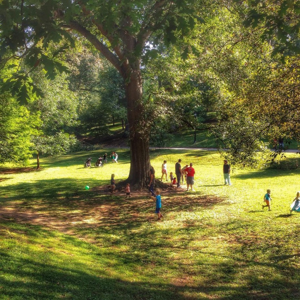 Kids at Grant Park by Wendy Darling