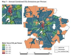 Atlanta Climate Action Plan, CO2 emissions