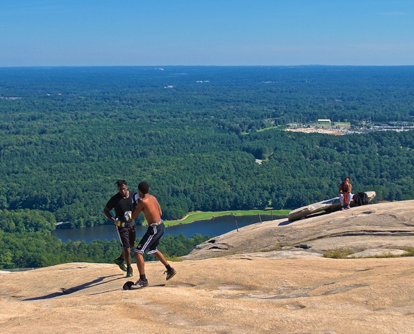 """""""Whether you're in the mood for a workout or just want to sit and contemplate the world around you, a clear day on top of Stone Mountain is good for the soul."""""""