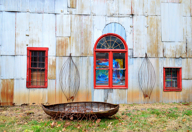 Window boats westside by Lisa Panero
