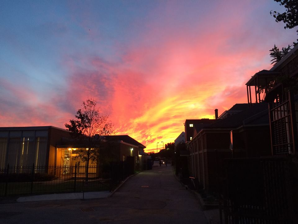 Sunset over Morehouse by Alex Peister