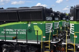 Norfolk Southern's new ''Eco'' locomotive is up to 25 percent more efficient than the train engines currently on our rails. Credit Norfolk Southern Corporation, nscorp.com