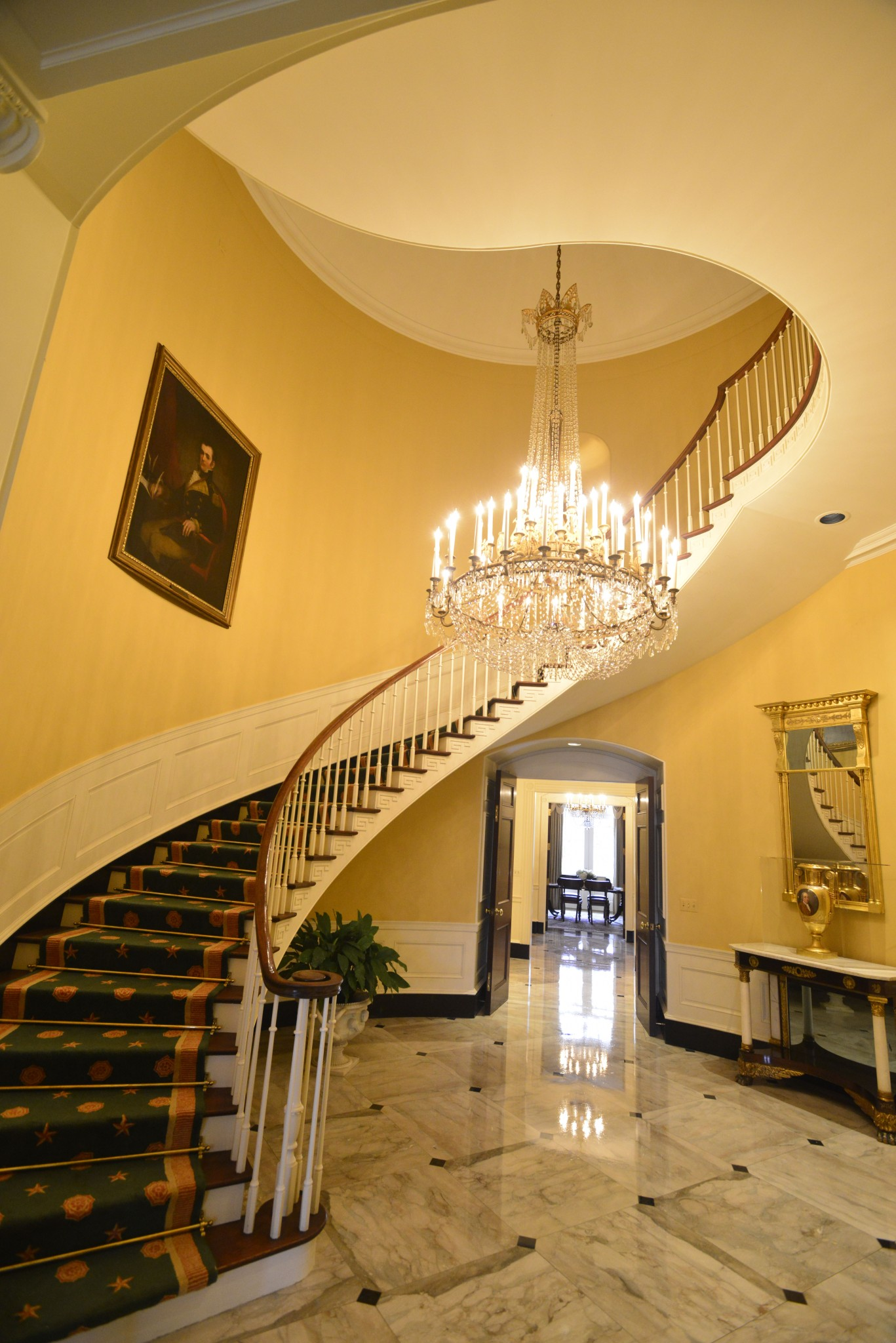 Main staircase of the Governor's Mansion. Photo by Christopher Oquendo
