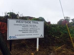 Atlanta BeltLine, Southwest Trail sign